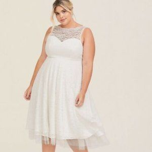 Torrid Wedding Ivory Lace Midi Dress Plus Size